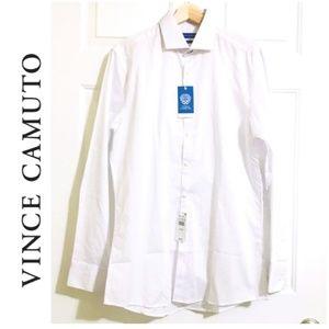 Vince Camuto Button Down Shirts Men Slim Fit Top